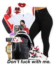 """Nicki. (an old draft)"" by xbambiix ❤ liked on Polyvore featuring Lauren Conrad, G-Shock, NIKE and HUF"