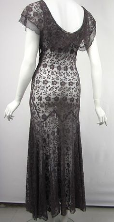 1930s Mesh Flutter Dress image 8