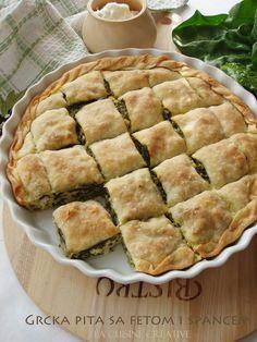 La cuisine creative: Grčka pita sa fetom i spanaćem - http://kuhinjica-mignone.blogspot.de/2014/05/grcka-pita-sa-fetom-i-spanacem.html