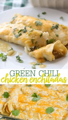 One Of Our Favorite Mexican Dishes – Green Chile Chicken Enchiladas Recipe!! Corn Tortillas Stuffed With Chicken, Cheese, Green Chile Enchilada Sauce, Sour Cream, And Green Chiles, Topped With More Sauce And Cheese! Healthy Dinner Recipes, Snack Recipes, Cooking Recipes, Easy Mexican Food Recipes, Simple Recipes For Dinner, Recipes With Chicken, Easy Mexican Dishes, Dinner Ideas, Green Chili Recipes