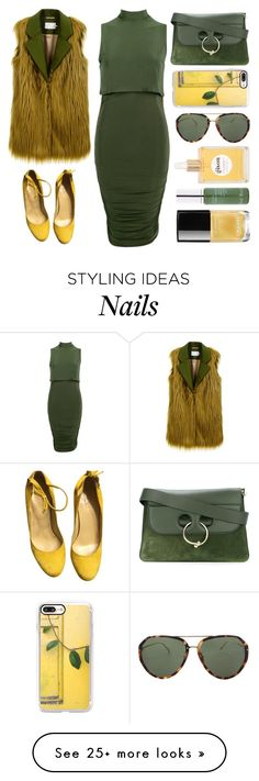 """Fur Waist Coat"" by juliehalloran on Polyvore featuring L'Autre Chose, Boohoo, Casetify, J.W. Anderson, Linda Farrow, Gisou by Negin Mirsalehi, Kat Burki and Chanel"