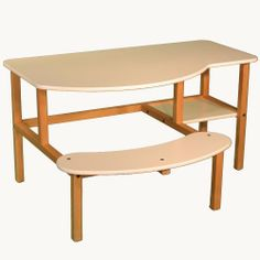 Wild Zoo Furniture Childs Wooden Computer Desk for 1 to 2 Kids, Ages 5 to 10, White by Wild Zoo Furniture. $163.82. Solid wood frame. Optional hutch is availible. Seat space for one or two kids. A computer desk designed for grade-schoolers, this desk comfortably fits one or two children ages 5 to 10 years old on the extra large 30.5-Inch wide seat. deep enough for a full size desktop computer with solid wood legs and frame, sturdy laminated top with rounded corners and de...