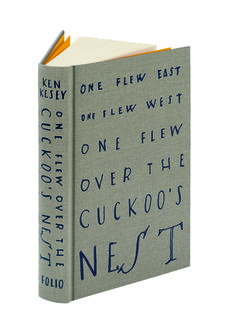 Cover of The Folio Society edition of One Flew Over the Cuckoo's Nest, illustrated by David Hughes Book Cover Design, Book Design, Design Design, Typography Letters, Lettering, Art Nouveau, Beautiful Book Covers, Book Jacket, Cool Books