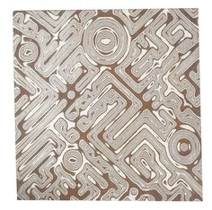 Argentium Silver and Copper Mokume Gane Civitas-Pattern Sheet, 22-Ga.