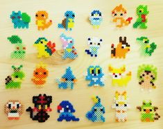 Tiny perler pokemon - Minecraft World 2020 Pyssla Pokemon, Hama Beads Pokemon, Diy Perler Beads, Perler Bead Art, Perler Bead Templates, Pearler Bead Patterns, Perler Bead Pokemon Patterns, Hama Beads Design, Perler Bead Designs
