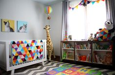 gender neutral nursery. This is how you do primary colors in a kid's room!