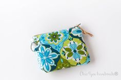 Laminated/ oilcloth coin pursemini wallet by Chic4youhandmade