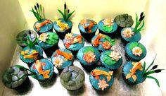 Koi pond cupcakes! So cool.