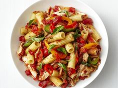 Rigatoni with Chicken and Bell Peppers recipe from Food Network Kitchen via Food Network