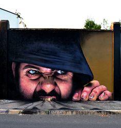 Nerviano, Lombardia: nuovo pezzo dello street artist italiano Cheone