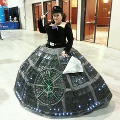 Death Star Gown- This chick is the queen of awesome!!
