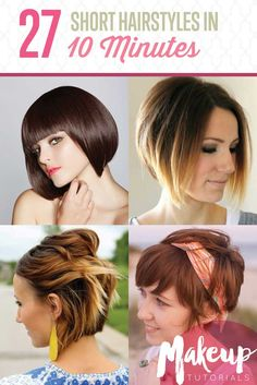 Short hair can be styled quickly and easily in 10 minutes or less. This list of short hairstyles will give you major hairspiration every day of the year!