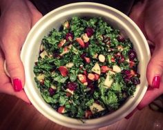 The sun is out, so bring on the summer salads. This kale salad is where it's at. #cleaneating #paleo #kalesalad #summersalad #healthyrecipes