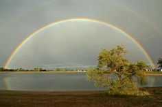 A rainbow over Harper's Lake in Louisville, Colorado.  CREDIT: Bambi L. Dingman/dreamstime