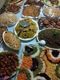 An arrey of Haitian food.