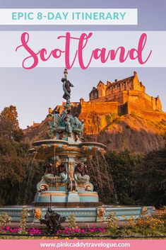 Planning a trip to Scotland? This 8 day Scotland itinerary includes castles monuments cities and beautiful natural countryside! Scotland Travel Guide, Europe Travel Guide, Europe Destinations, Ireland Travel, Travel Guides, Europe Places, Travel Uk, Travel Advice, Highlands