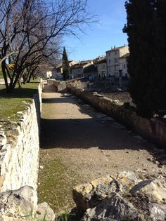 Not everyone who goes to Provence stops to visit Orange, France. I'm not sure why because it's not that far from Avignon and Châteauneuf-du-Pape Orange France, Chateauneuf Du Pape, Provence, Barefoot, Sidewalk, Side Walkway, Walkway, Walkways, Aix En Provence