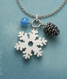 Really like this ~ Winter Pendant with Chalcedony Bead from James Avery Jewelry