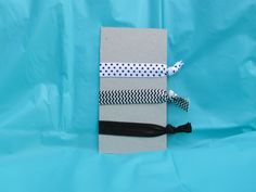 Black and white hair elastics! *FREE SHIPPING!!!*