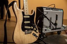 """Fender (@fender) on Instagram: """"The new Natural Ash #AmericanPro Stratocaster is doing #Straturday right... au naturel Click the…"""""""