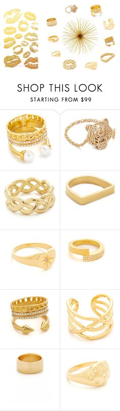 """""""Gold Rings..**"""" by yagna ❤ liked on Polyvore featuring Vita Fede, Kenzo, Soave Oro, Maya Magal, Jacquie Aiche, Amber Sceats and vintage"""