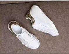 4ea74d6e5cb Alexander McQueen Inspired Glitter Trimmed Oversized Platform Sneaker