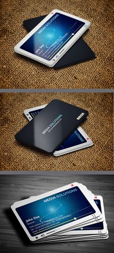 A unique iPhone business card design, for the tech-savvy individual ...