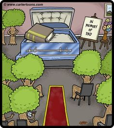 funerals in cartoons   Cartoon: Tree Funeral (medium) by cartertoons tagged tree,book,funeral ...