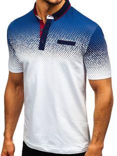 Men's Daily Basic Polo Summer Printed Short-sleeved T-shirt Camisa Polo, Polo Shirt Brands, Polo Shirt Style, Polo Shirts, Sport Shirt Design, Mens Designer Shirts, Sublime Shirt, Denim Fashion, Latex Fashion