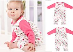 Newborn Baby Toddler Girl Sheep Cotton Long Sleeve Bodysuits Clothing Pink 0-3M #ibaby #Everyday