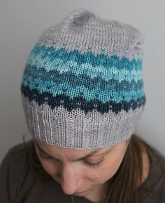 This slouchy beanie uses a set of mini skeins to create bands of stranded colorwork in which each color becomes part of the next motif. Use a gradient set or bright contrasting colors to create an infinite number of color combinations and looks. Find this hat pattern and more knitting inspiration at LoveKnitting.Com.