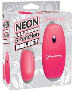 Get just the right touch of satisfaction with this Neon Luv Touch 5-Function Bullet. Lined with our super-soft Luv Touch coating, this powerful little bullet is smooth to the touch, satisfying and ultra sleek. Go from a flutter to a throb with the push of a button and choose between 5 thrilling functions! The ergonomic controller fits comfortably in your hand, and it's small and discreet enough to take with you wherever you go.