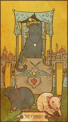 Muroidea Rat Tarot- The Chariot Canvas Print
