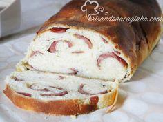 Brisando na Cozinha: Pão de mandioca com calabresa