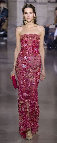 Georges Hobeika Haute Couture Frühjahr-Sommer 2018 Show – Paris – Elle Fashion Week, Runway Fashion, Fashion Show, Fashion Goth, High Fashion, Georges Hobeika, Beautiful Gowns, Beautiful Outfits, Haute Couture Style