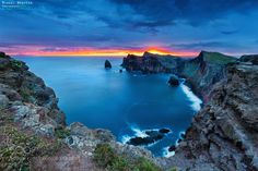 Sunset in Anical, Madeira Island