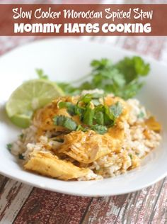 Slow Cooker Moroccan Spiced Stew I Mommy Hates Cooking #CampbellsSkilledSaucers #Sponsored