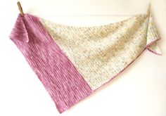 Rhubarb Crumble Shawl Scarf Crochet Pattern PDF Asymmetric Triangle Summer spring accessory light weight artisan yarn by LittleDoolally on Etsy