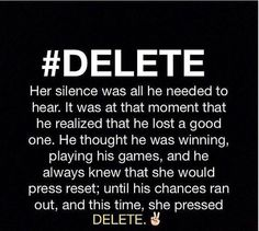 I will DELETE you from my heart