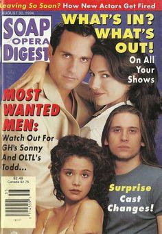 Maurice Benard & Vanessa Marcil #GH Reiko Aylesworth & Roger Howarth #OLTL 8/30/94 http://classicsodcovers.tumblr.com/
