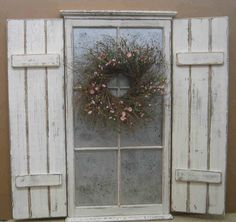 Love these!  I have similar ones in my garage...made out of rough boards!    Sooo cute and prim...