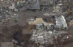 Destroyed: An aerial view of Briarwood Elementary - a second elementary school that was damaged in Mondays tornado