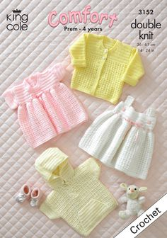 Crochet Baby Jacket, Cardigan and Dresses - King Cole