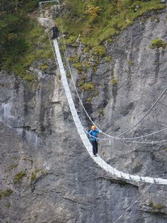 Via Ferrata Murren – Gimmelwald is a recent addition to the Swiss family of Via Ferrata (a.k.a. Klettersteig) – having opened in 2008. - via Alex Shar