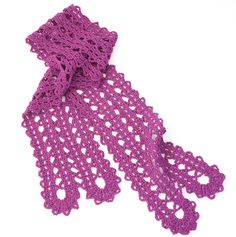 Bruges Lace Scarf FREE crochet pattern ||| Creative Woman newsletter
