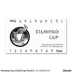 Steaming Cup in Hand Logo Punch Card Double-Sided Standard Business Cards (Pack Of 100)  http://www.zazzle.com/steaming_cup_in_hand_logo_punch_card_business_card-240394252388286415?rf=238588924226571373