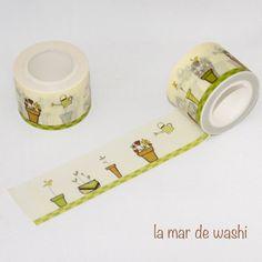 Washi tape garden