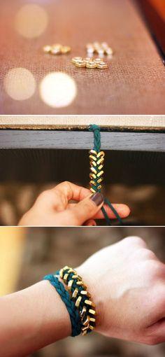 Hexagon Friendship Bracelet / 33 DIY Gifts You Can Make In Less Than An Hour (via BuzzFeed) #DIY Bracelets #Bracelets #DIY