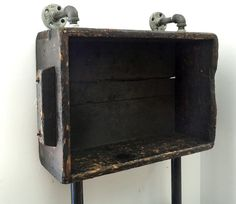 Industrial Machinist Crate Shelving Unit by reclaimedhome on Etsy