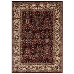 Persian Arts Burgundy (Red) 5 ft. 3 in. x 7 ft. 5 in. Area Rug